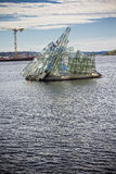 Γλυπτό γυαλιού βρίσκεται κοντά στη Όπερα στο Όσλο, Νορβηγία Στοκ Εικόνες
