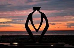 Γλυπτό ερωτευμένο Στοκ εικόνες με δικαίωμα ελεύθερης χρήσης