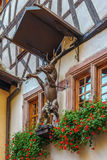 Γλυπτό ελαφιών, Riquewihr, Γαλλία Στοκ εικόνες με δικαίωμα ελεύθερης χρήσης