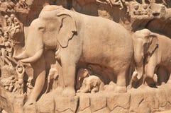 Γλυπτό ελεφάντων Στοκ Φωτογραφίες