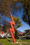 Γλυπτό ηλεκτρικής ενέργειας Riva Del Garda Ιταλία Στοκ Εικόνες
