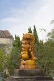 Γλυπτό λιονταριών στο βουδιστικό μοναστήρι Po Lin Χογκ Κογκ Στοκ εικόνα με δικαίωμα ελεύθερης χρήσης