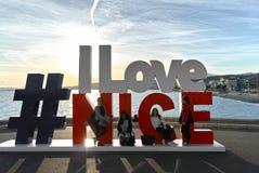 Γλυπτό Ι αγάπη Νίκαια Στοκ Φωτογραφίες