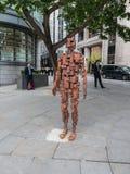 Γλυπτό Λονδίνο ΨΗΦΙΣΜΑΤΟΣ του Antony Gormley Στοκ εικόνα με δικαίωμα ελεύθερης χρήσης