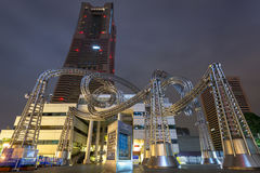 Γλυπτό μετάλλων στον πύργο ορόσημων Yokohama, Ιαπωνία Στοκ φωτογραφίες με δικαίωμα ελεύθερης χρήσης