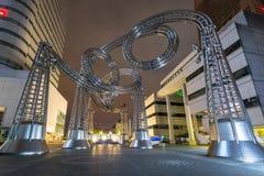 Γλυπτό μετάλλων στον πύργο ορόσημων Yokohama, Ιαπωνία Στοκ εικόνα με δικαίωμα ελεύθερης χρήσης