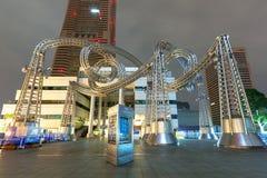Γλυπτό μετάλλων στον πύργο ορόσημων Yokohama Στοκ εικόνα με δικαίωμα ελεύθερης χρήσης