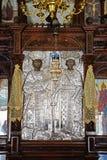 Γλυπτό μοναχών μέσα στο μοναστήρι Arkadi Στοκ Φωτογραφίες
