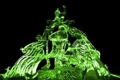 Γλυπτό νεράιδων και πάγου του Phoenix πράσινο Στοκ εικόνα με δικαίωμα ελεύθερης χρήσης