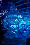 Γλυπτό πάγου ενός δράκου Στοκ εικόνες με δικαίωμα ελεύθερης χρήσης