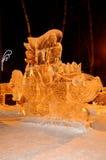 Γλυπτό πάγου ενός δράκου Στοκ εικόνα με δικαίωμα ελεύθερης χρήσης