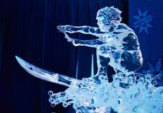 Γλυπτό πάγου σε Winterlude 2014 Στοκ Εικόνα