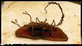 Γλυπτό σκορπιών καλωδίων χαλκού Στοκ Εικόνες