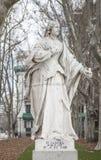 Γλυπτό της βασίλισσας Sancha Plaza de Oriente, Μαδρίτη, Ισπανία Στοκ Εικόνες