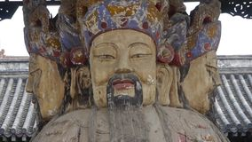 Γλυπτό της Κίνας Fortuna στο ναό ιστορικός-γλυπτό & μνημεία απόθεμα βίντεο