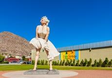 Γλυπτό της Μέριλιν Μονρόε στο Παλμ Σπρινγκς Καλιφόρνια ΗΠΑ Στοκ Φωτογραφία