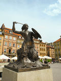 Γλυπτό της σειρήνας της Βαρσοβίας Στοκ εικόνες με δικαίωμα ελεύθερης χρήσης