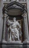 Γλυπτό του αποστόλου ST Paul ο μεγαλύτερος από Pierre-Etienne Στοκ Εικόνες
