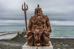 Γλυπτό του βασιλιά Ποσειδώνας Στοκ Εικόνες