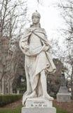 Γλυπτό του βασιλιά Ataulf Plaza de Oriente, Μαδρίτη, Ισπανία Στοκ εικόνες με δικαίωμα ελεύθερης χρήσης