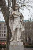 Γλυπτό του βασιλιά Leovigild Plaza de Oriente, Μαδρίτη, Ισπανία Στοκ Φωτογραφίες
