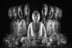 Γλυπτό του Βούδα και Ksitigarbha στοκ εικόνα με δικαίωμα ελεύθερης χρήσης