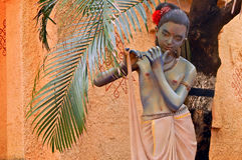 Γλυπτό του ινδού Θεού Sri Krishna στοκ φωτογραφίες
