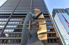 Γλυπτό του Πικάσο στο Σικάγο Στοκ εικόνα με δικαίωμα ελεύθερης χρήσης