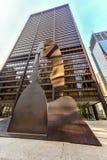 Γλυπτό του Πικάσο στο Σικάγο Στοκ Εικόνα