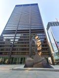 Γλυπτό του Πικάσο στο Σικάγο Στοκ Φωτογραφία