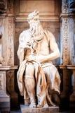 Γλυπτό του προφήτη Μωυσής, που γίνεται από Michelangelo Στοκ Εικόνα