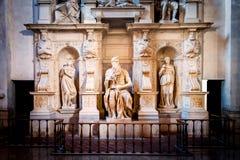 Γλυπτό του προφήτη Μωυσής, που γίνεται από Michelangelo Στοκ φωτογραφία με δικαίωμα ελεύθερης χρήσης