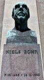 Γλυπτό του Niels Bohr στην Κοπεγχάγη στοκ φωτογραφίες