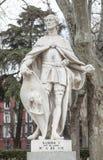 Γλυπτό του Ramiro ΙΙ του Leon Plaza de Oriente, Μαδρίτη, Spai Στοκ φωτογραφία με δικαίωμα ελεύθερης χρήσης