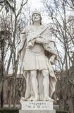 Γλυπτό του Wilfred ο τριχωτός Plaza de Oriente, Μαδρίτη, Spai Στοκ Φωτογραφίες