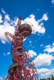 Γλυπτό τροχιάς ArcelorMittal στο ολυμπιακό πάρκο, Λονδίνο, UK Στοκ φωτογραφίες με δικαίωμα ελεύθερης χρήσης