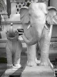 Γλυπτό των ελεφάντων στο Κατμαντού, Νεπάλ Στοκ Φωτογραφίες