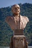 Γλυπτό χαλκού Eloy Alfaro, ιστορικός φιλελεύθερος στοκ εικόνα