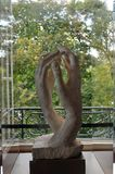 Γλυπτό χεριών Rodin Στοκ εικόνες με δικαίωμα ελεύθερης χρήσης