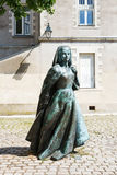 Γλυπτό Anne της Βρετάνης στη Νάντη, Γαλλία Στοκ Εικόνα