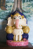 Γλυπτό Ganesha σε Wat Phra που μουγκρητό Doi Kong Στοκ Φωτογραφία