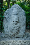 Γλυπτό Olmec στο πάρκο Λα Venta Στοκ φωτογραφία με δικαίωμα ελεύθερης χρήσης