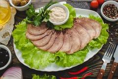 Γλώσσα βόειου κρέατος Στοκ Φωτογραφία