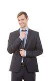 Γλώσσα του σώματος κοστούμι επιχειρησιακών στοκ φωτογραφίες με δικαίωμα ελεύθερης χρήσης