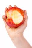 δάγκωμα ένα μήλων κόκκινο Στοκ Φωτογραφίες