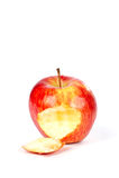 δάγκωμα ένα μήλων κόκκινο Στοκ Εικόνες