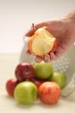 δάγκωμα μήλων Στοκ Φωτογραφίες