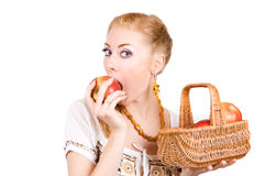 δάγκωμα μήλων Στοκ φωτογραφίες με δικαίωμα ελεύθερης χρήσης
