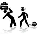Δάνειο σπουδαστών διανυσματική απεικόνιση