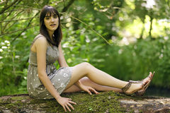 δάση κοριτσιών στοκ φωτογραφίες με δικαίωμα ελεύθερης χρήσης